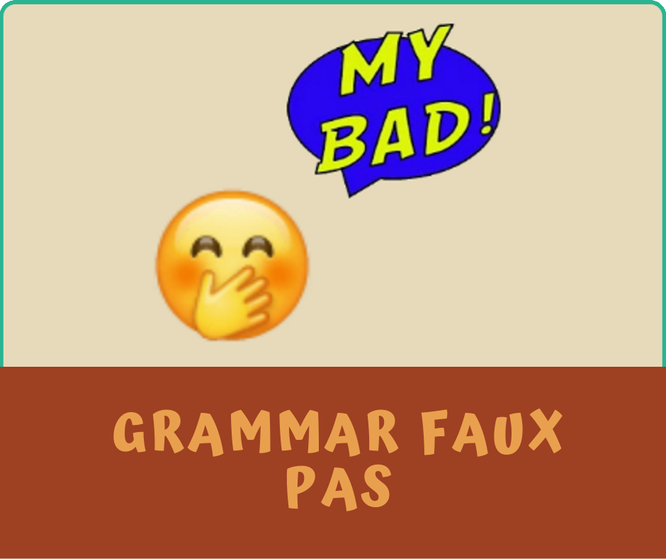 Grammar Faux Pas category image