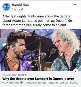 Herald Sun Facebook post