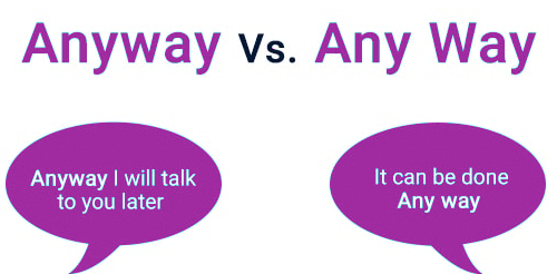 anyway vs any way