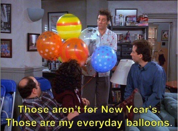 Seinfeld: Kramer with his everyday balloons
