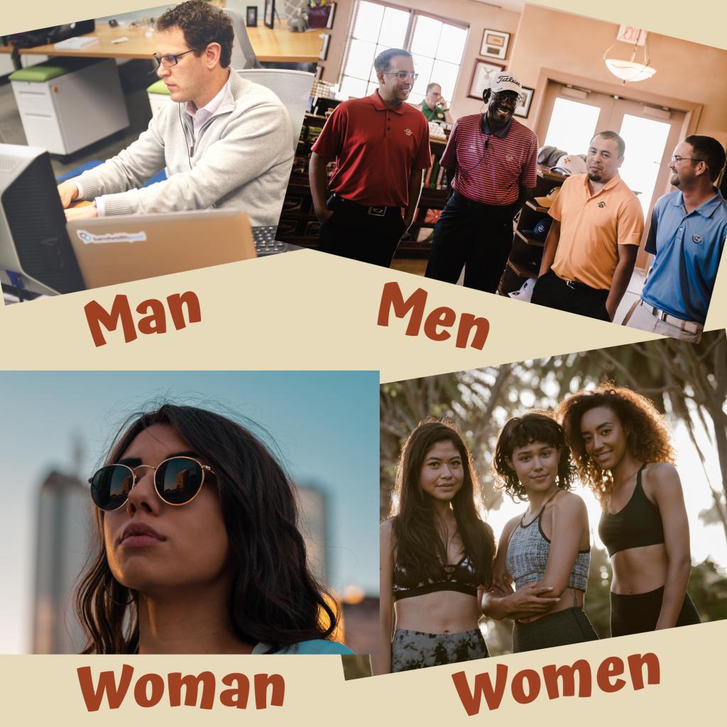 Man-Men-Woman-Women