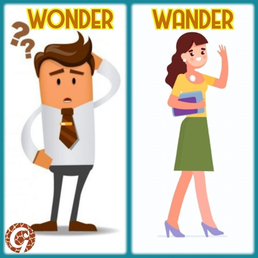 Wonder vs wander