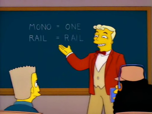 The Simpsons Lyle Lanley Monorail