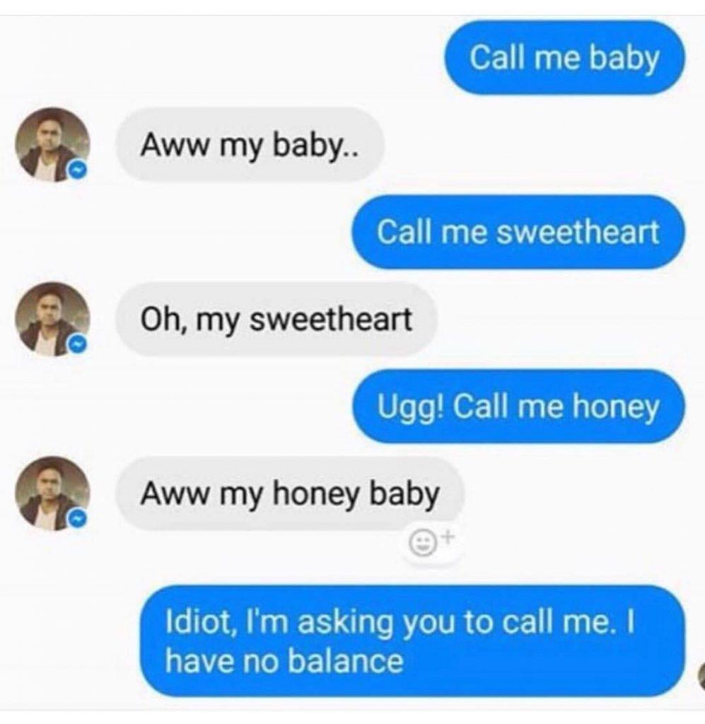 Comma fail - call me baby
